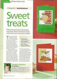 Sweet Treats, cover page, page 1/4v