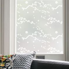 Butterflies and Birds Patterned Window Film Designs Frosted Glass Design, Frosted Window Film, Bathroom Window Treatments, Victorian Pattern, Net Curtains, Bird Patterns, Cherry Blossom, Windows, Office Ideas