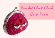 ถักกระเป๋าปิ๊กแป๊กโครเชต์ (English Subtitles/Crochet Owl Coin Purse) Coin Purse Pattern, Coin Purse Tutorial, Bag Pattern Free, Purse Patterns, Crochet Wallet, Crochet Coin Purse, Crochet Purses, Crochet Bags, Designer Purses And Handbags