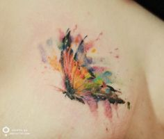 #tattoofriday - tatuagens delicadas sem contorno aquarela - Silo Tattooist;