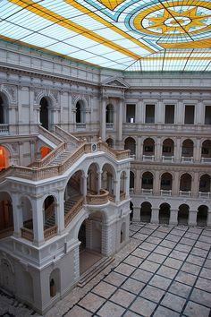 Architecture inside Warsaw University of Technology, Poland