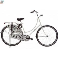 Highlander Traditional White Black Flower - Klassisk Dutch Bike kr 3 584,00