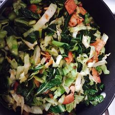 """Smothered Collard Greens and Cabbage I """"A-MA-ZING! Sooo easy and nutritious = high in Vit C and A. My neighbor is an ole' southern boy and he raves about smothered cabbage."""""""