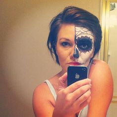 Tutorial for Sugar Skull/ Day of the Dead makeup