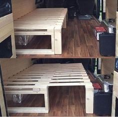 Diy pallet bed - 35 Creative DIY Pallet Project Idea for Your RV – Diy pallet bed Pallet Futon, Diy Pallet Bed, Diy Pallet Furniture, Diy Pallet Projects, Pallet Bar, Wooden Furniture, Wooden Futon, Pallet Headboards, Pallet Benches