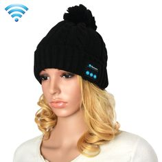 [$10.56] My-Call Bluetooth Headset Beanie Knitted Warm Winter Hat for iPhone 6 & 6s / iPhone 5 & 5S / iPhone 4 & 4S and Other Bluetooth Devices(Black)