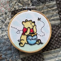 I loved my last Winnie the Pooh project so much I decided to do another. I think this one might've turned out even better :) : Embroidery Diy Embroidery Patterns, Simple Embroidery, Hand Embroidery Stitches, Embroidery Hoop Art, Cross Stitch Embroidery, Christmas Embroidery, Couture, Google Search, Pooh Bear