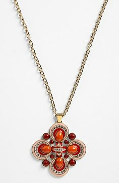 Tory Burch 'Alia' Pendant Necklace available at #Nordstrom
