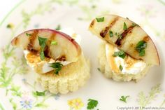 grilled nectarine and goat cheese appetizers