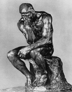 Rodin, Auguste - The Thinker - 1880 - Bronze Auguste Rodin, Statues, Rodin The Thinker, Boston Terrier Art, History Of Philosophy, Literature Circles, Art History, The Incredibles, Image