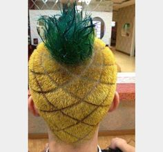 Pineapple Haircut - Of The Craziest Haircuts Ever. Crazy hair day at school next year! Hair Pineapple, Pineapple Yellow, Crazy Hair Days, Bad Hair Day, Crazy Hair Day For Teachers, White People, Cool Hairstyles, Short Hairstyles, Haircut Styles