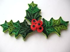 Sale Quilled mistletoe christmas decoration by PaperDreamland