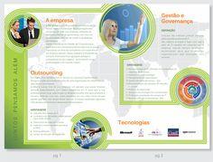Parte interna de folder para a empresa TIC, criado em parceria com a agência Making.