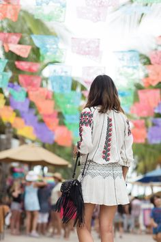 aimee song of style wears revolve clothing in Sayulita mexico
