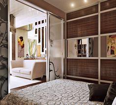 Дизайн гостиной совмещенной со спальней в одном помещении