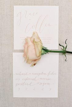 Pink Wedding Calligraphy | photography by http://jamieraephoto.com