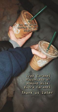 and Drink drawings Starbucks Coffee Starbucks Hacks, Healthy Starbucks Drinks, Starbucks Secret Menu Drinks, Starbucks Coffee, Yummy Drinks, Starbucks Order, Iced Coffee, Stevia, Low Cal