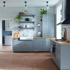 Decorating with Grey | Modern Kitchen Designs. For more decorating ideas visit Redonline.co.uk