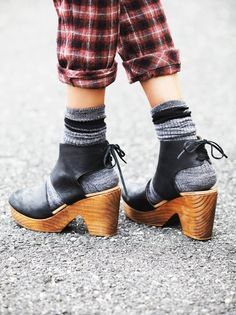 Gold closed back clogs. I saw a gal wearing these the other day ...