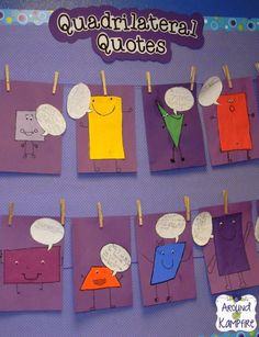 Classifying shapes by their attributes and working  with quadrilaterals.