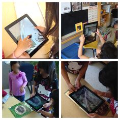 """Children taking their own pictures to document their learning  ("""",)"""