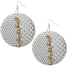 Candy Luxx - Silver Gold Hammered Pyramid Cone Alloy Metal Dangle Earrings, $9.62 (http://www.candyluxx.com/products/silver-gold-hammered-pyramid-cone-alloy-metal-dangle-earrings.html)