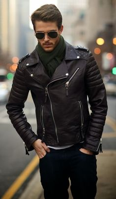 New Men's Leather Motorcycle Quilted Jacket Real Lambskin Soft Leather MJ12 #WesternOutfit #Motorcycle