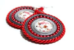 Lovely Boho Ethnic Folk Hand Embroidered Soutache by Herinia, $30.00