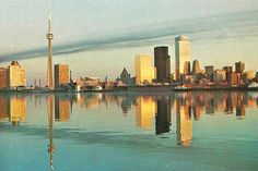 Postcard of the Toronto skyline in the Toronto Skyline, Toronto City, New York Skyline, Toronto Ontario Canada, As Time Goes By, City Buildings, Cn Tower, Vintage Photos, 1970s