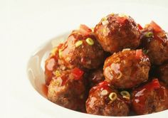 Beef and water chestnut patties in sweet and sour sauce recipe