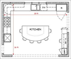 kitchen floor plans | brilliant kitchen floor plans with wood