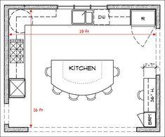 kitchen floor plan layouts with island ~ deluxe design