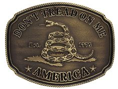 Montana Silversmiths American Gadsden Don't Tread On Me Heritage Attitude Belt Buckle Custom Belt Buckles, Cowboy Belt Buckles, Gadsden Flag, Thing 1, Western Belts, Cowboy Western, Western Jewelry, Dont Tread On Me, My Heritage