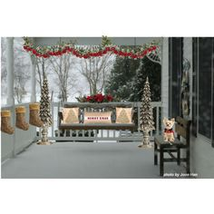christmas porches | Christmas Front Porch - Polyvore