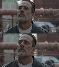 THE WALKING DEAD S08E10 Negan showing a softer side with the blow of Carl's death