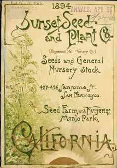 Seeds and general nursery stock