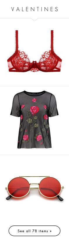 """""""V A L E N T I N E S"""" by happy-fashionx ❤ liked on Polyvore featuring intimates, bras, lingerie, underwear, bra, e-lingerie, la perla, rosso, la perla lingerie and lace strap bra"""