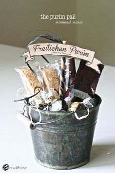 The Purim Pail Mishloach Manot via @chaihome...I have to remember to order these next year.
