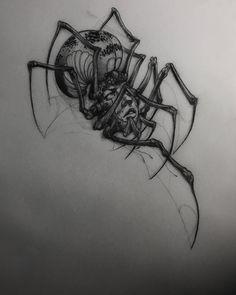 My Most Favorite Geometric Tattoo Spider Drawing, Spider Art, Spider Tattoo, Web Tattoo, Tattoo Motive, Tattoo Life, Tattoo Sketches, Tattoo Drawings, Black Tattoos