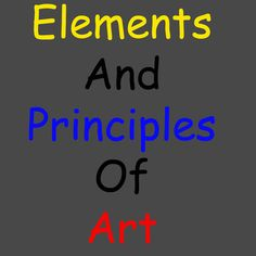 Elements and Principles of Art hand out posters; I've been pinning these things one at a time elsewhere...now, all in one spot!