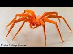 origami instrucciones de plegado : araña rebotando - YouTube