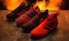 The new Adidas Pyro Storm soccer cleats collection introduces fiery designs  for all Adidas boot silos. 14ec26219