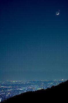 Crescent Moon And Venus (by Tomosang)
