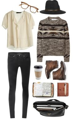 Perfect autumn combination. White blouse, tribal grey sweater, brown leather tie -up boots, coffee and black skinny jeans #streetstyle #fashion #style #ootd #lookbook #vintage #opshop #thrift #thrifty #vogue #beauty #love #opshophaul #secondhand #dress #skirt #boots #shoes #trend #indie #polyvore #boho #bag #heels #thriftshop #hair #weheartit #blogger