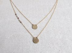 Gold Layered Necklace Gold Necklace For Women Gold by ShaiHarel, $50.00