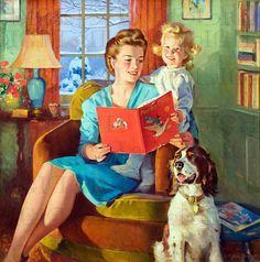 cartel de la década de 1940 Images Vintage, Photo Vintage, Vintage Cards, Retro Vintage, Vintage Style, Vintage Books, Vintage Housewife, Mother Goose, Arte Popular