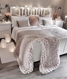 Beautiful blush and white bedroom