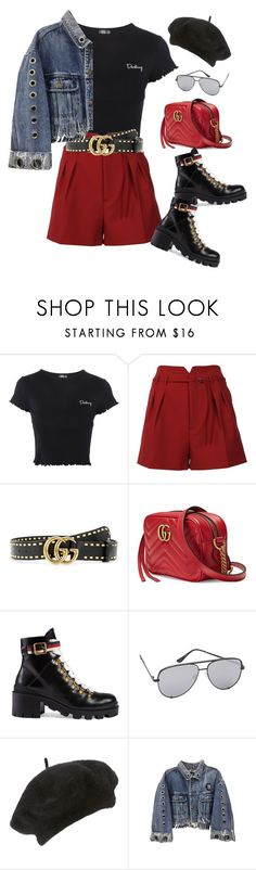 """""""Untitled #865"""" by minhie-inspiration ❤ liked on Polyvore featuring Topshop, RED Valentino, Gucci, Quay and John Lewis"""