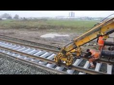 Swietelsky reconstruction railway by SMD-80 - YouTube