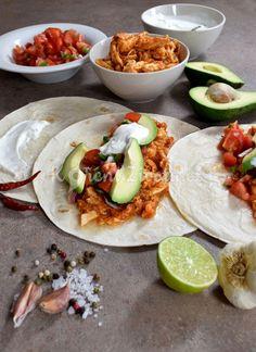 Recept na mexické trhané kuřecí maso na tacos :-)